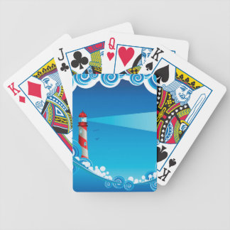 Lighthouse and Boat in the Sea 6 Poker Deck