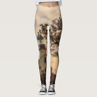 Lighthouse and Branches Leggings
