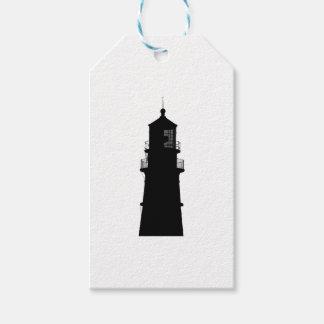 lighthouse art design black fashion gift tags