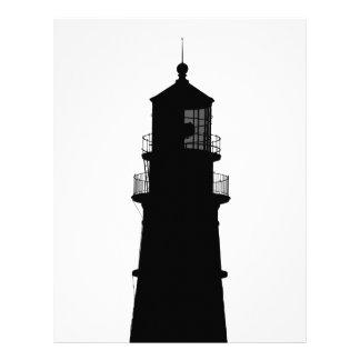 lighthouse art design black fashion letterhead