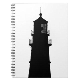 lighthouse art design black fashion notebooks
