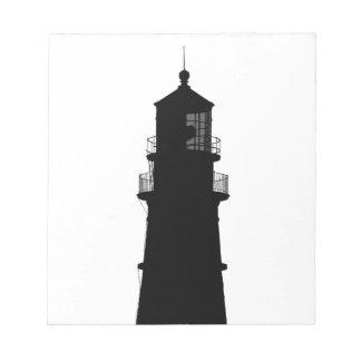 lighthouse art design black fashion notepad