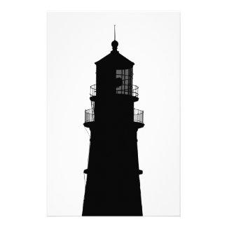 lighthouse art design black fashion stationery