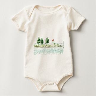Lighthouse At Andrew Haydon Park Baby Bodysuit