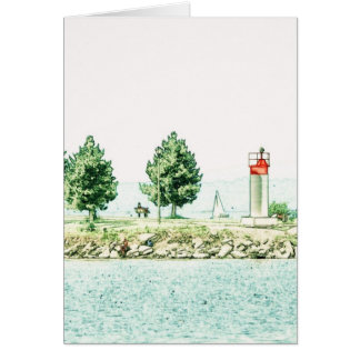 Lighthouse At Andrew Haydon Park Card