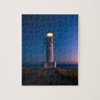 Lighthouse at Dusk 8x10 Jigsaw Puzzle