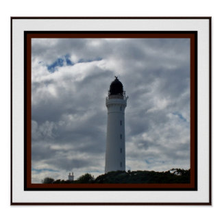 Lighthouse at Lossiemouth, Scotland Poster
