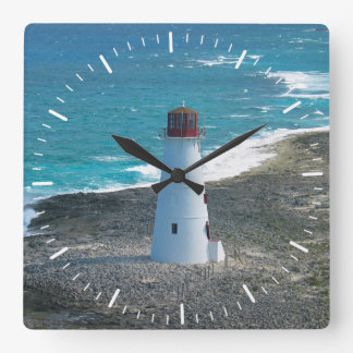 Lighthouse at Nassau in the Bahamas Clock