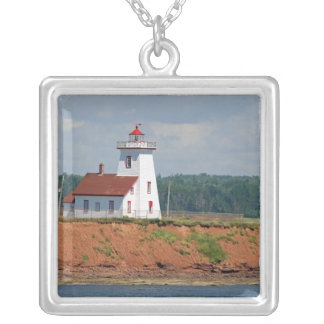 Lighthouse at North Umberland on Prince Edward Silver Plated Necklace