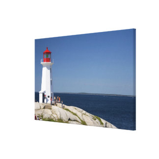 Lighthouse at Peggy's Cove, Nova Scotia, Canada. Canvas Print