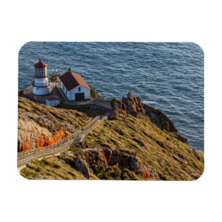 Lighthouse At Point Reyes National Seashore Rectangular Photo Magnet