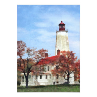 Lighthouse at Sandy Hook Card