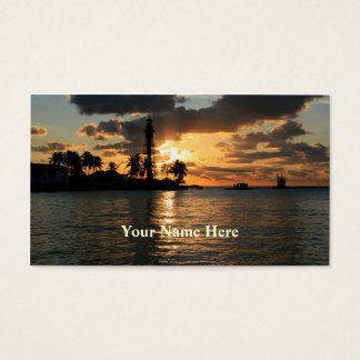 Lighthouse at Sunrise Business Card