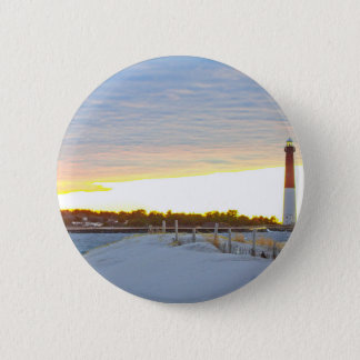 Lighthouse at Sunset 2 Inch Round Button
