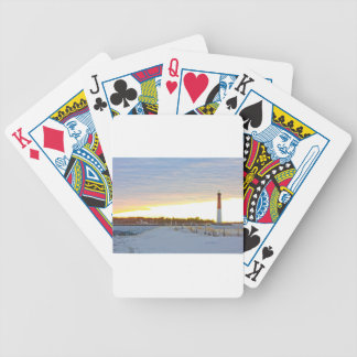 Lighthouse at Sunset Bicycle Playing Cards
