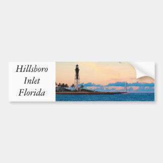 Lighthouse at Sunset Car Bumper Sticker