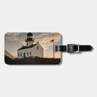 Lighthouse at sunset, California Bag Tag