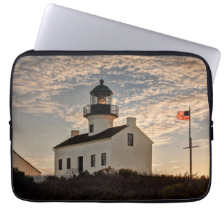 Lighthouse at sunset, California Computer Sleeve