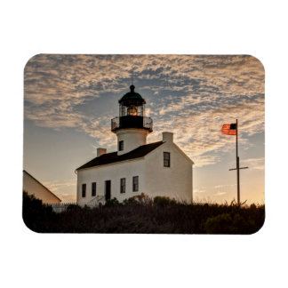 Lighthouse at sunset, California Magnet