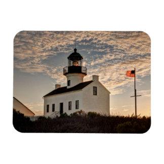 Lighthouse at sunset, California Rectangular Photo Magnet