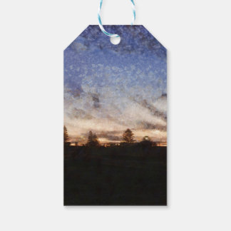 Lighthouse at sunset gift tags