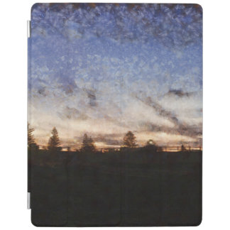 Lighthouse at sunset iPad cover