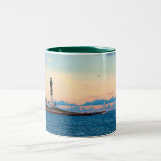 Lighthouse at Sunset Mug