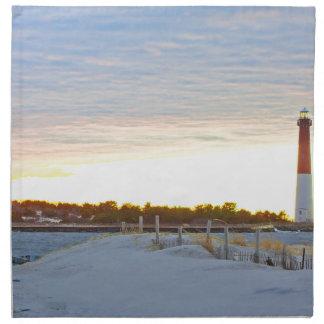 Lighthouse at Sunset Napkin