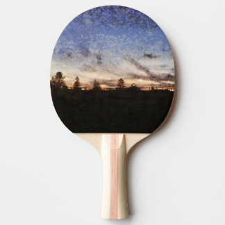 Lighthouse at sunset ping pong paddle