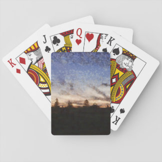 Lighthouse at sunset playing cards