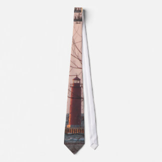 Lighthouse at Sunset Tie