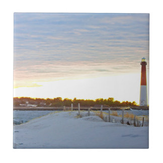 Lighthouse at Sunset Tile