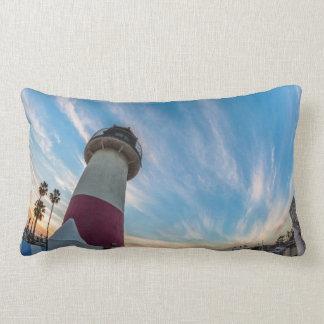 Lighthouse at the Oceanside Harbor Lumbar Pillow