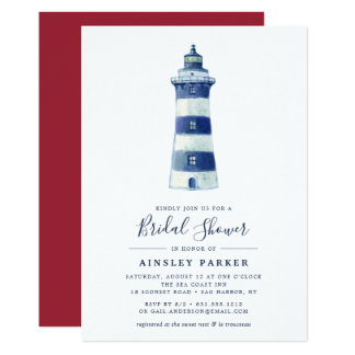 Lighthouse Beach | Bridal Shower Invitation