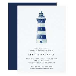 Lighthouse Beach | Engagement Party Invitation