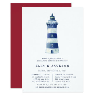 Lighthouse Beach | Rehearsal Dinner Invitation