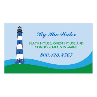 Lighthouse Beach Rental Business Card