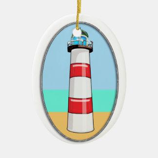 Lighthouse Beacon Ceramic Ornament