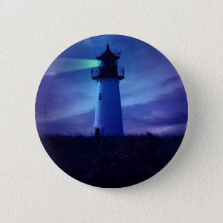 Lighthouse Beacon Round Button