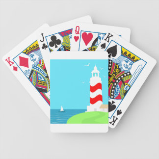 Lighthouse Bicycle Playing Cards