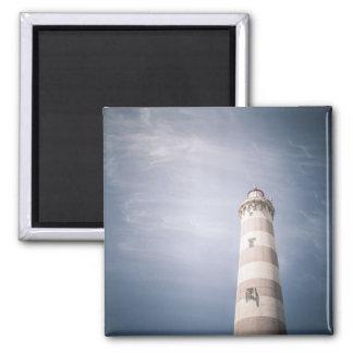 Lighthouse blue skies photo magnet