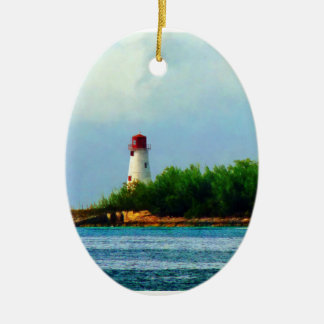 Lighthouse, Boat Nassau Bahamas Ceramic Ornament