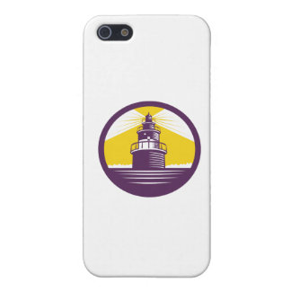 Lighthouse Circle Woodcut Case For The iPhone 5