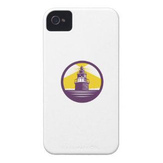 Lighthouse Circle Woodcut Case-Mate iPhone 4 Case
