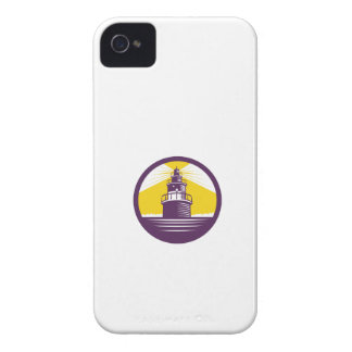 Lighthouse Circle Woodcut iPhone 4 Case-Mate Case