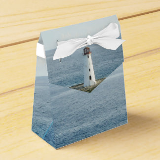 Lighthouse Coastal New England Wedding Favor Box