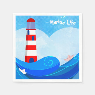 Lighthouse cocktail paper napkins