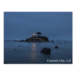 Lighthouse Crescent City, CA Postcard