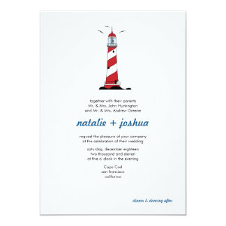 Lighthouse Destination Wedding Invitation Card