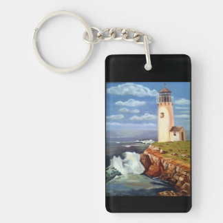 Lighthouse Double-Sided Rectangular Acrylic Keychain